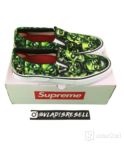 Supreme x Vans Slip-on Skull Pile US11