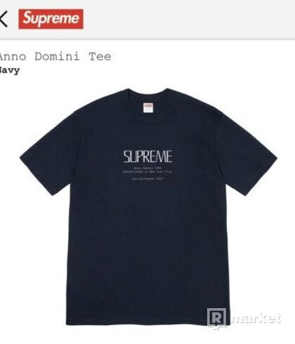 Supreme Anno Domini Tee Navy - SS20