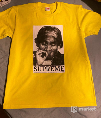Supreme Aguila Tee yellow - FW19