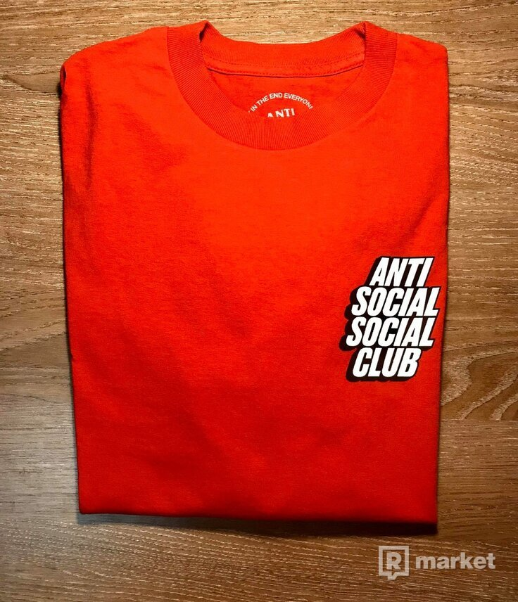 ASSC Block Me Red Long Sleeve Tee