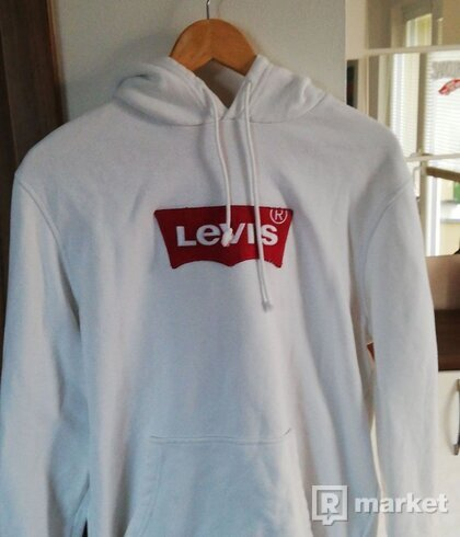 Levi´s white hoodie