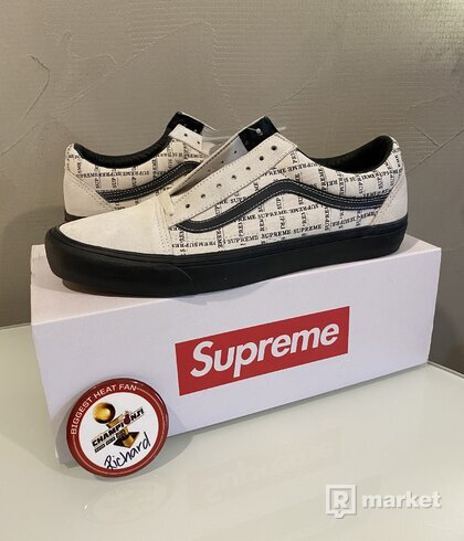 Supreme x Vans old school grid white US 13