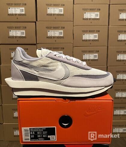 Nike x sacai waffle racer white