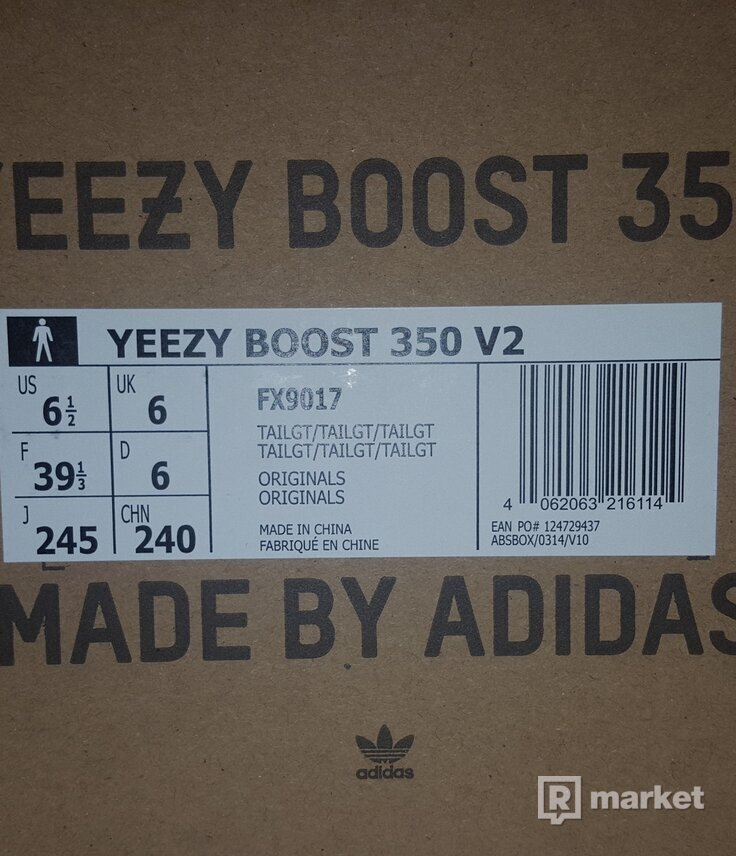 Adidas Yeezy Boost 350 V2 Tail Light US 6.5