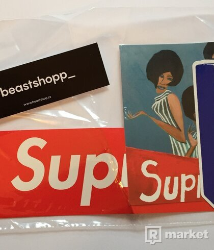 Supreme Week 5 Sticker pack + 2x Supreme Box Logo Sticker