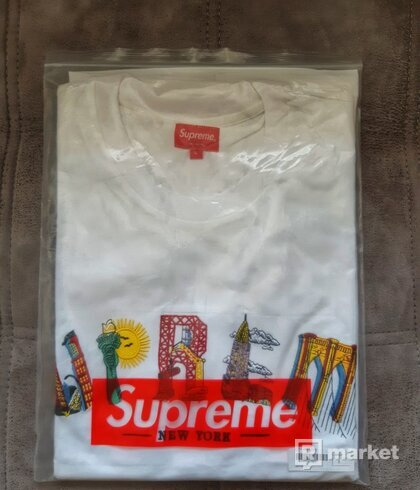 Supreme City Arc Tee white