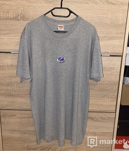 Supreme bottle cap tee grey
