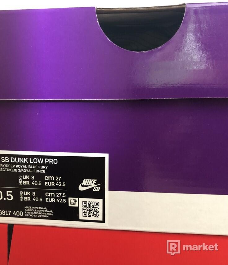 Nike SB Low Dunk Blue Fury