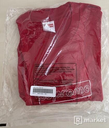 Supreme KAWS Chalk Logo Tee Red - L