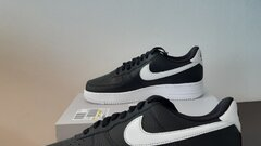 Nike air force 1 black, white swoosh