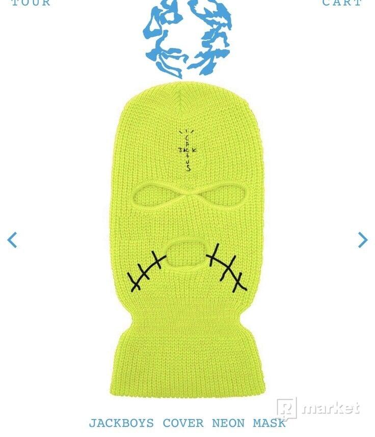 Travis Scott JACKBOYS Cover Neon Mask Green 2x