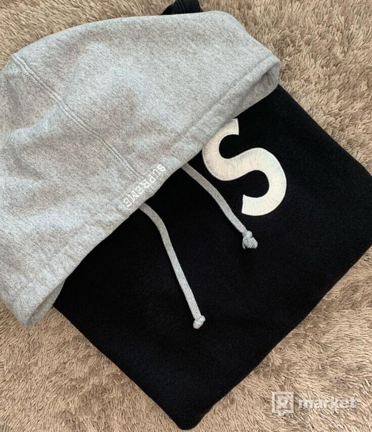 SUPREME S LOGO Colorblocked hoodie