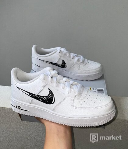 Nike Air Force 1 Sketch Black