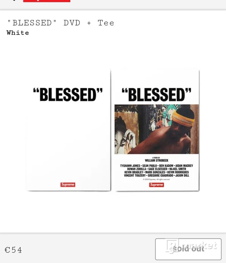 Supreme BLESSED tee