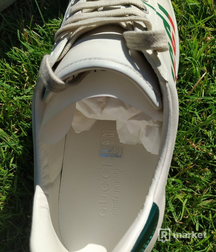 Gucci Men's Ace Blade Print Sneakers