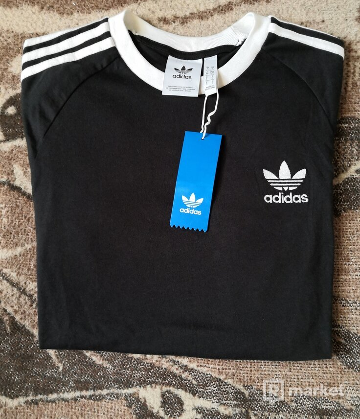 Adidas Originals 3 - Stripes Tee Black