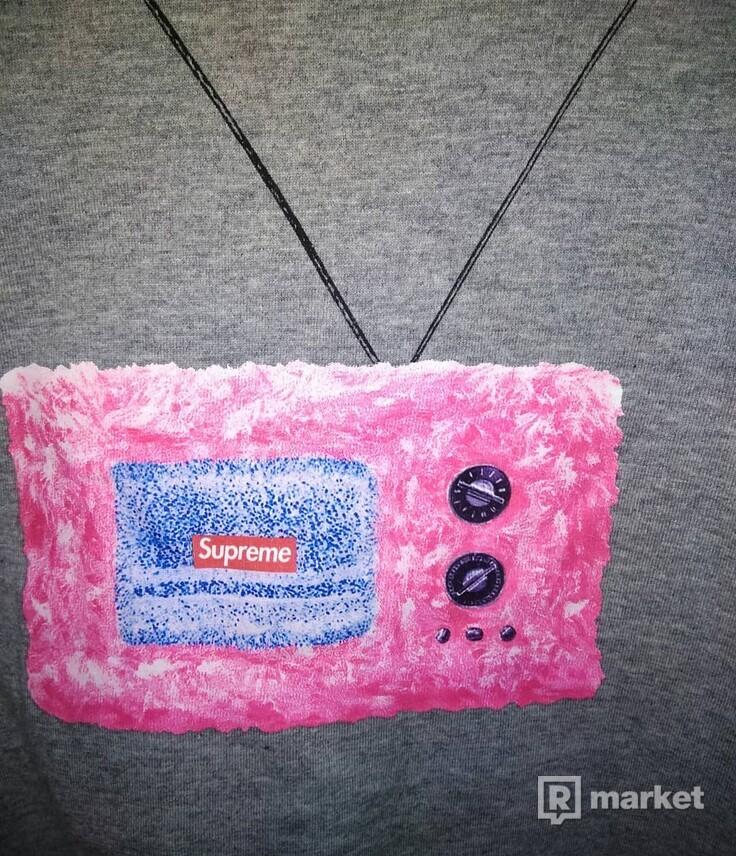 Supreme TV t-shirt Heater Grey