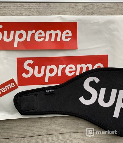 Supreme facemask blac