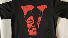 """Vlone x The Weeknd """"After Hours Blood Drip"""" Tee black"""