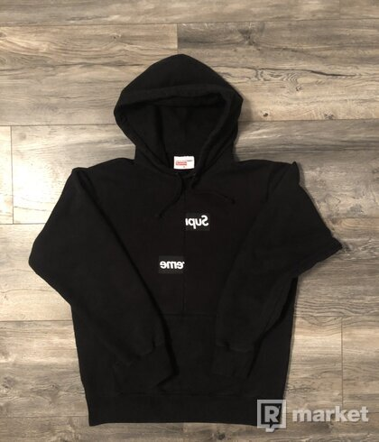 Supreme/Comme des Garcons SHIRT Split Box hoodie Black STEAL!!