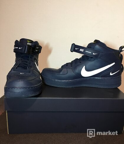 Nike Air Force 1  MID '07 LV8 Utility BLUE BRAND