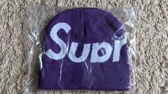 Supreme Big Logo Beanie Purple