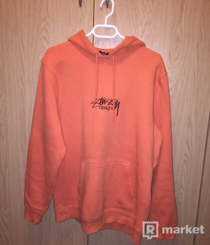 Stussy design applique hoodie