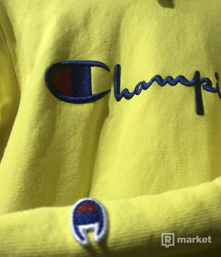 Champion Yellow Hoodie