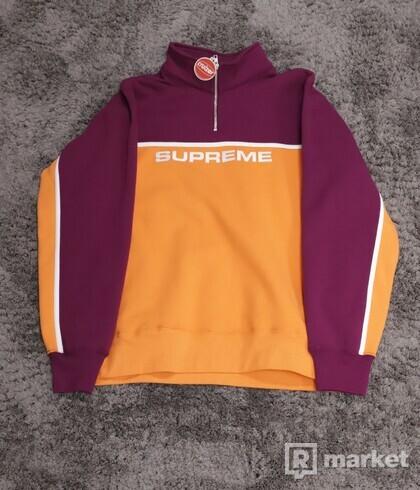 Supreme 2-Tone Half-Zip Sweatshirt Bright Orange