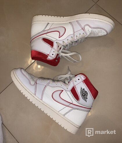 Jordan 1 Retro High Phantom Gym Red