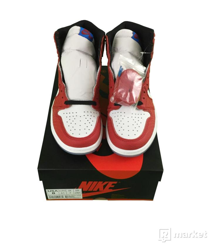 "Air Jordan 1 Retro High Origin Story ""Spider-man"" US8"