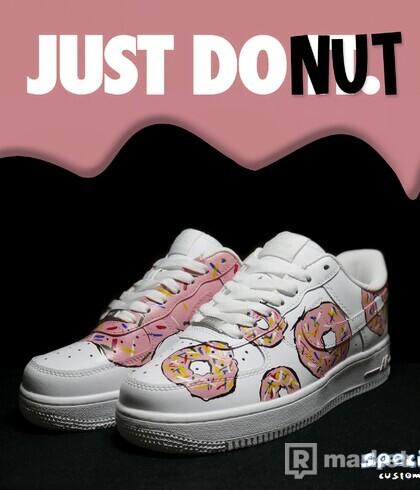 "Custom Nike Air Force 1 ""JUST DONUT"""