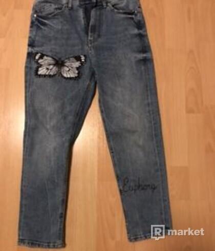 Custon butterfly effect jeans