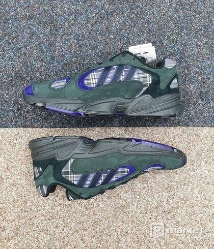 Adidas Yung-1 Purple Plaid