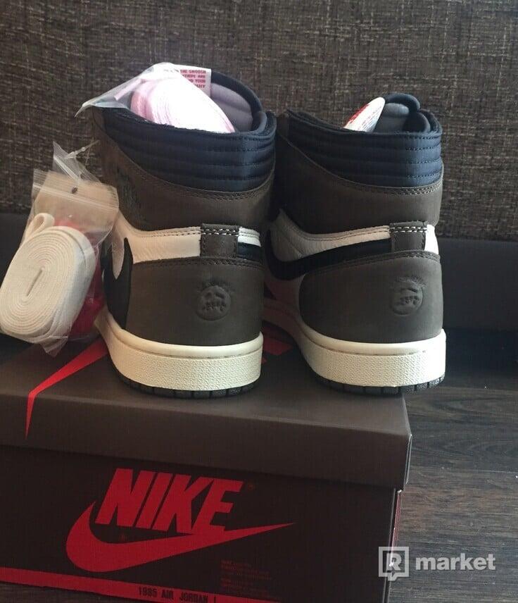 Air Jordan x Travis Scott Nike AJ I 1 High Dark Mocha (2019)