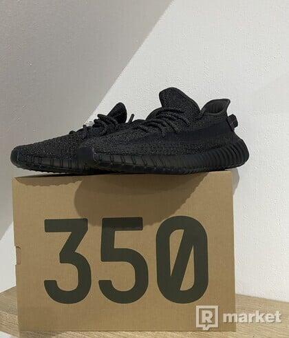 Yeezy 350 black static reflectiv