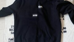 Supreme x cdg bod logo hoodie