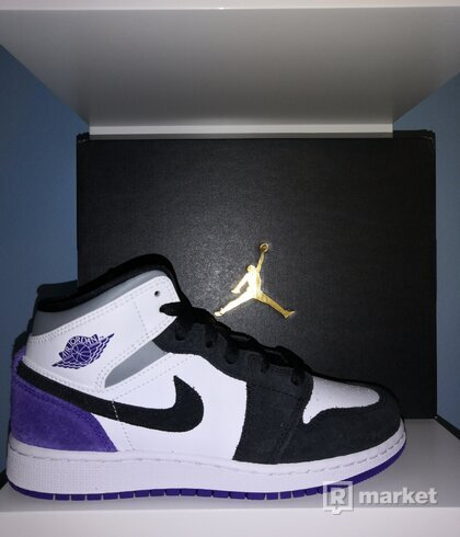 Jordan 1 Mid SE Purple (GS) 36, 38