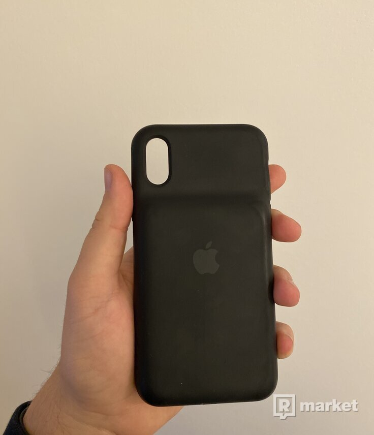 Iphone X 64gb space gray + smart battery case