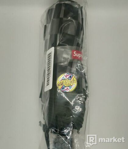 Supreme ShedRain Transparent Checkerboard Umbrella Black
