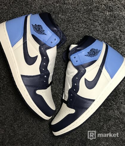 Air Jordan 1 Retro High ,,UNC Obsidian""