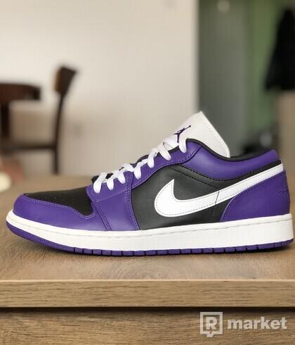 Nike Air Jordan 1 Low Court Purple/ White-Black Violet Court