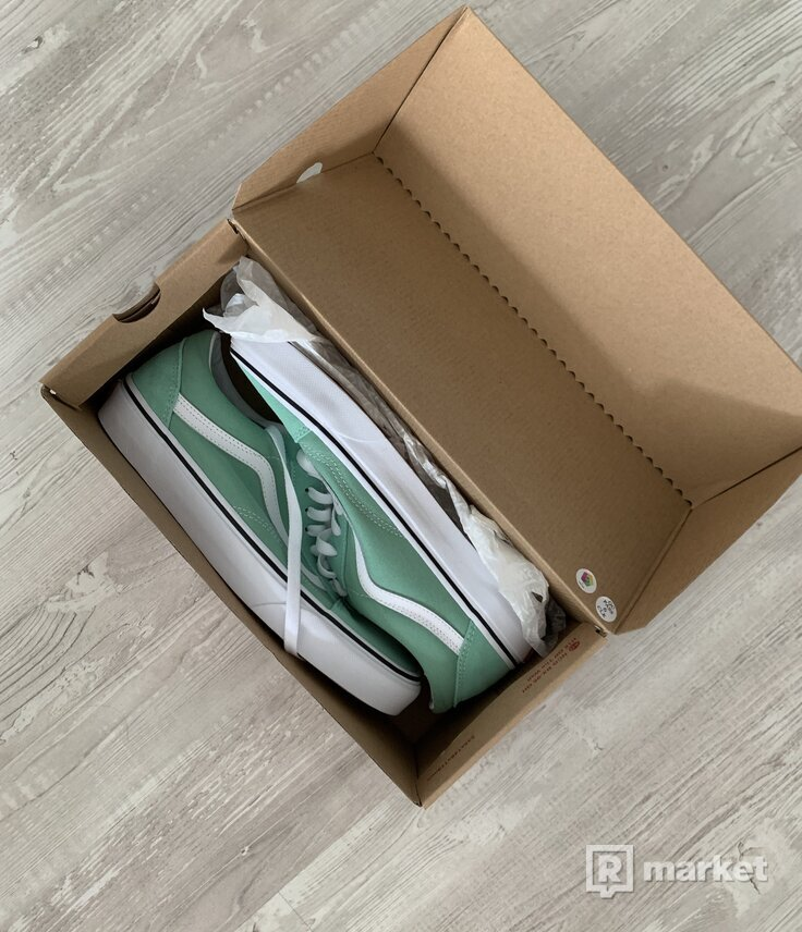 Vans Old Skool Neptune Green/True White