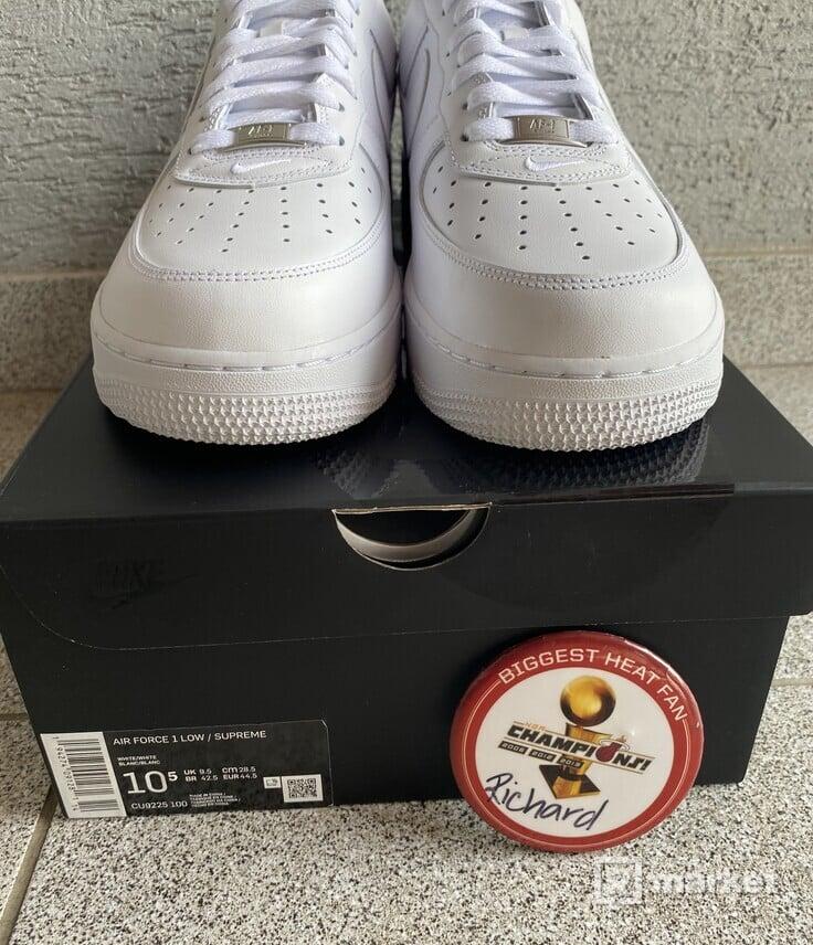 Nike Supreme Air Force 1 white US 10.5