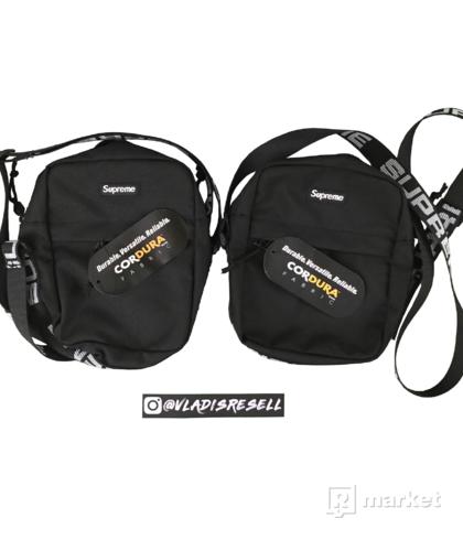 Supreme SS18 Shoulderbag Black DSWT (2x)