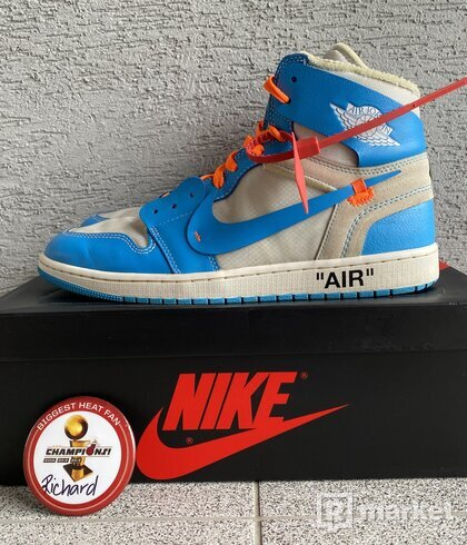 OFF WHITE x Air Jordan 1 Retro High OG UNC