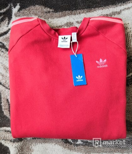 Adidas Originals 3 - Stripes Crewneck RedOrange