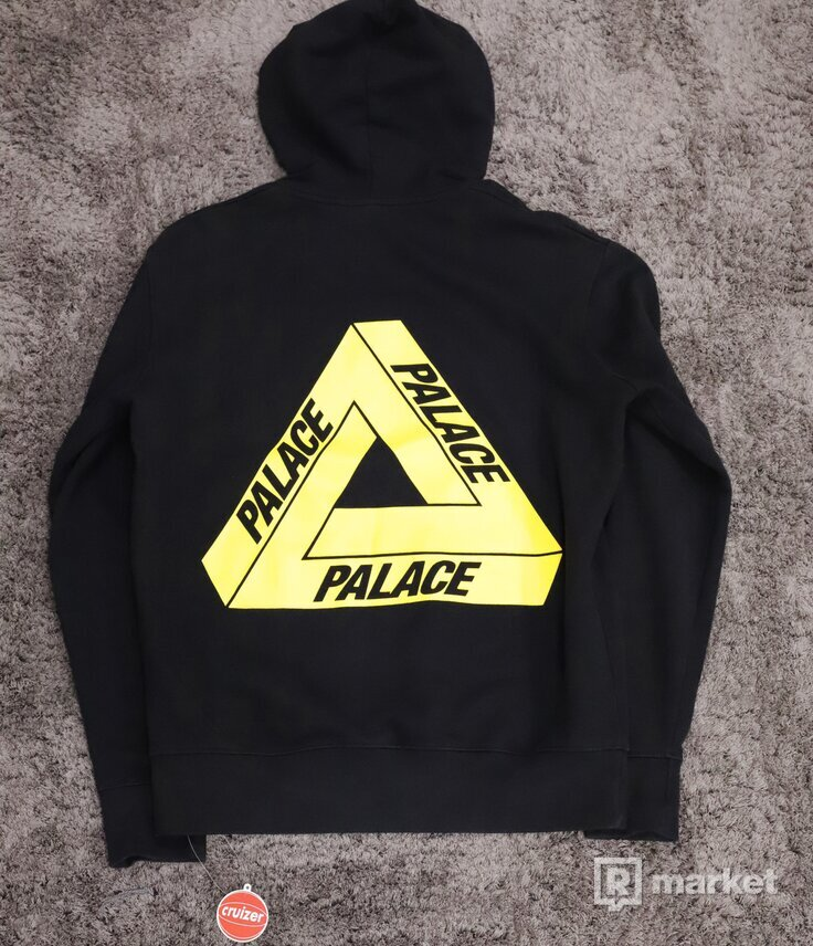 Palace OG Yellow Tri-Ferg Hoodie Black 2012