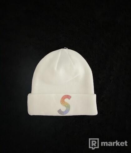 Supreme New Era Swarovski S logo