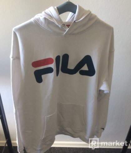 FILA Classic Logo Hoodie Bright White
